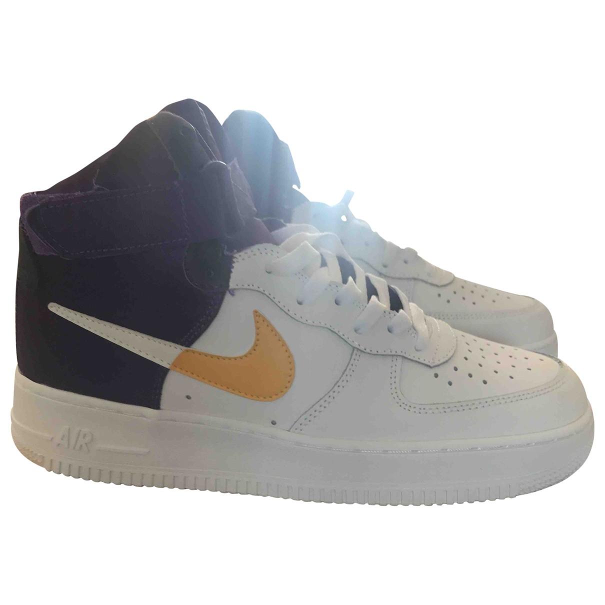 Nike - Baskets Air Force 1 pour homme en cuir - bleu