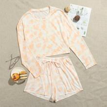 Tie Dye Tee & Shorts PJ Set