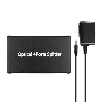 Toslink S/PDIF 1x4 Digital Optical Audio Splitter - Monoprice�