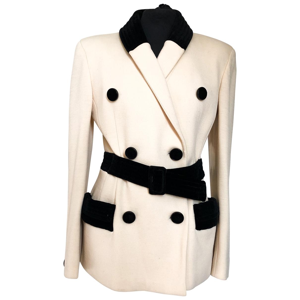Valentino Garavani \N Beige Wool jacket for Women 10 UK