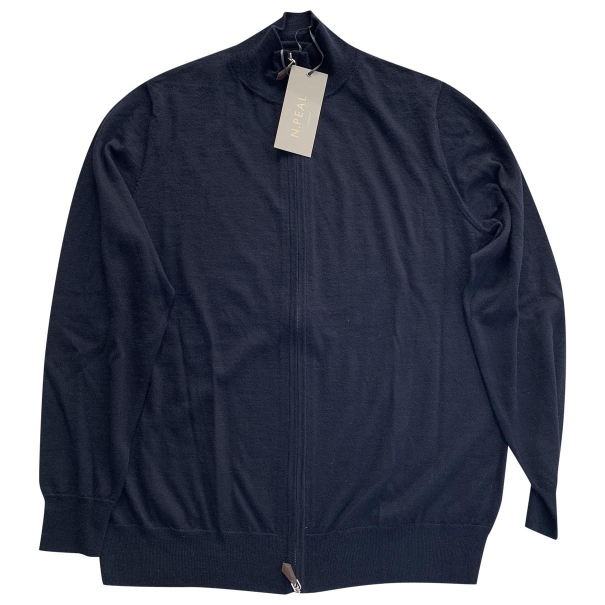 N. Peal \N Pullover.Westen.Sweatshirts  in  Blau Kaschmir