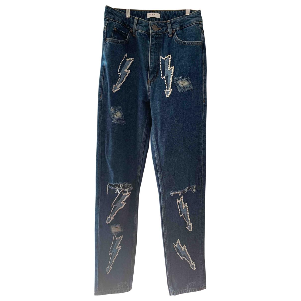 Sandro \N Blue Denim - Jeans Trousers for Women 36 FR