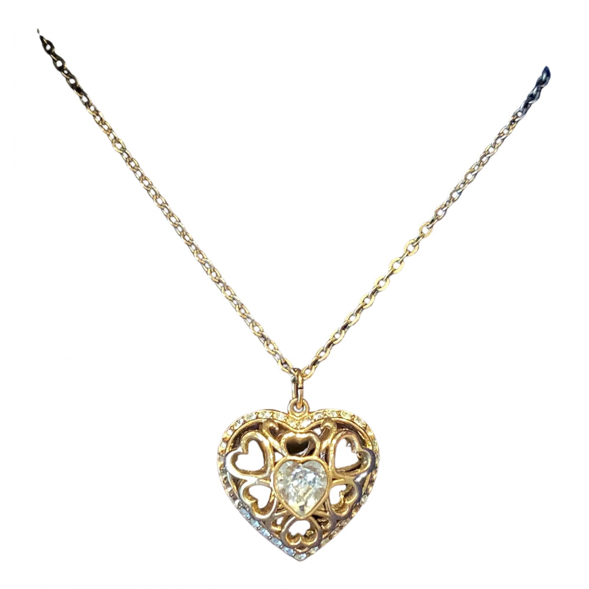 Swarovski N Gold Metal necklace for Women N