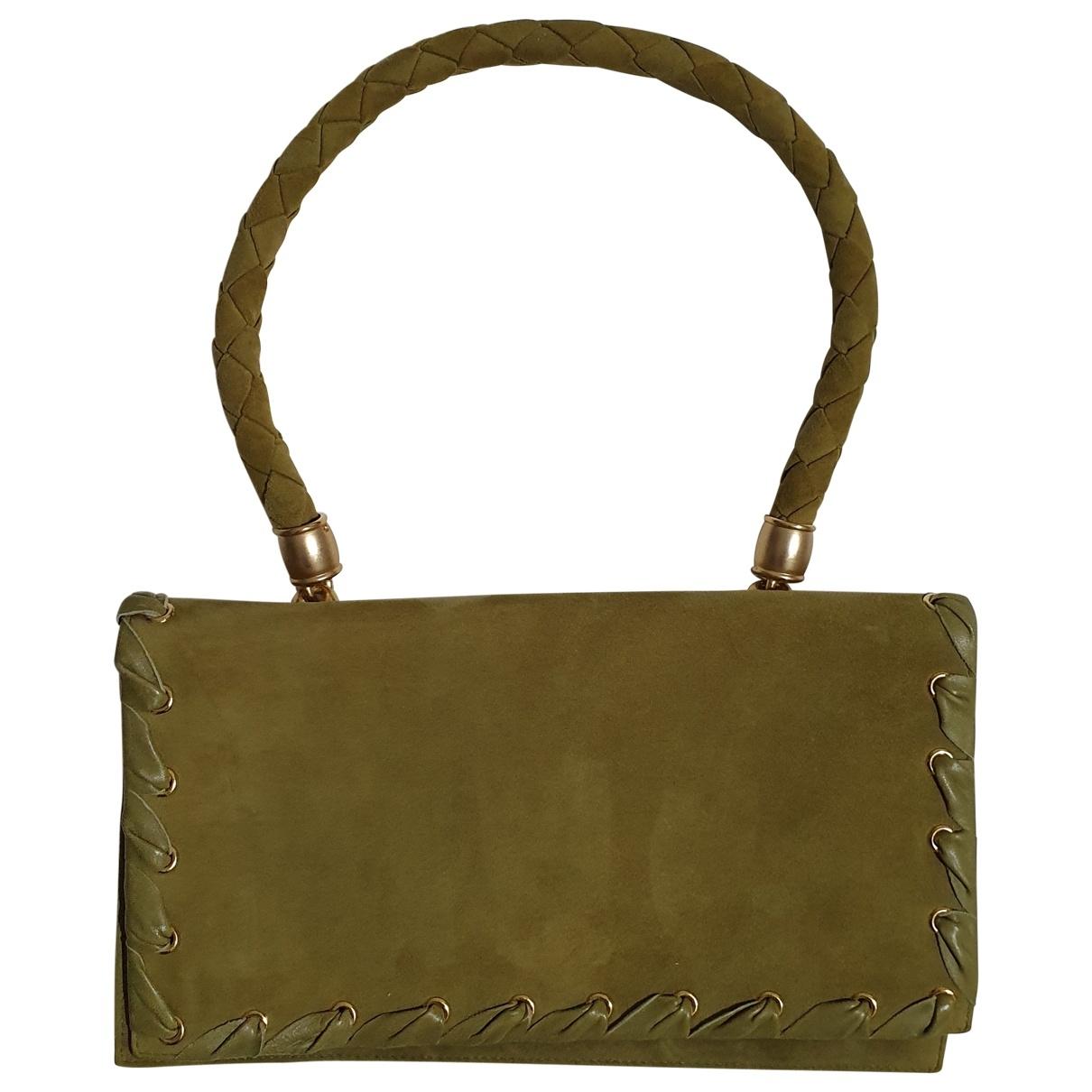 Walter Steiger \N Handtasche in  Gruen Veloursleder