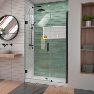 DreamLine Unidoor-LS 47-48 in. W x 72 in. H Frameless Hinged Shower Door with L-Bar - 47