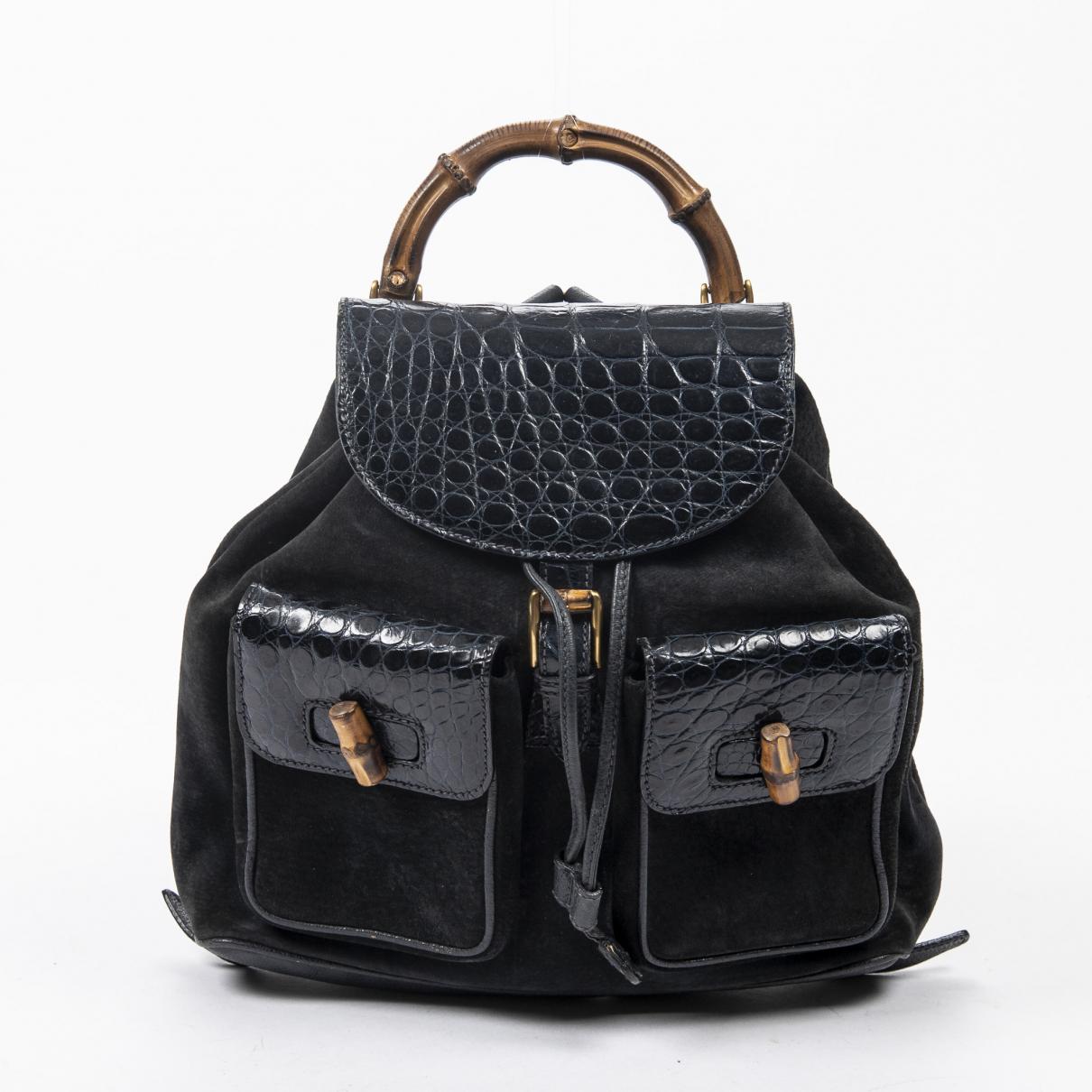 Gucci \N Black Leather backpack for Women \N