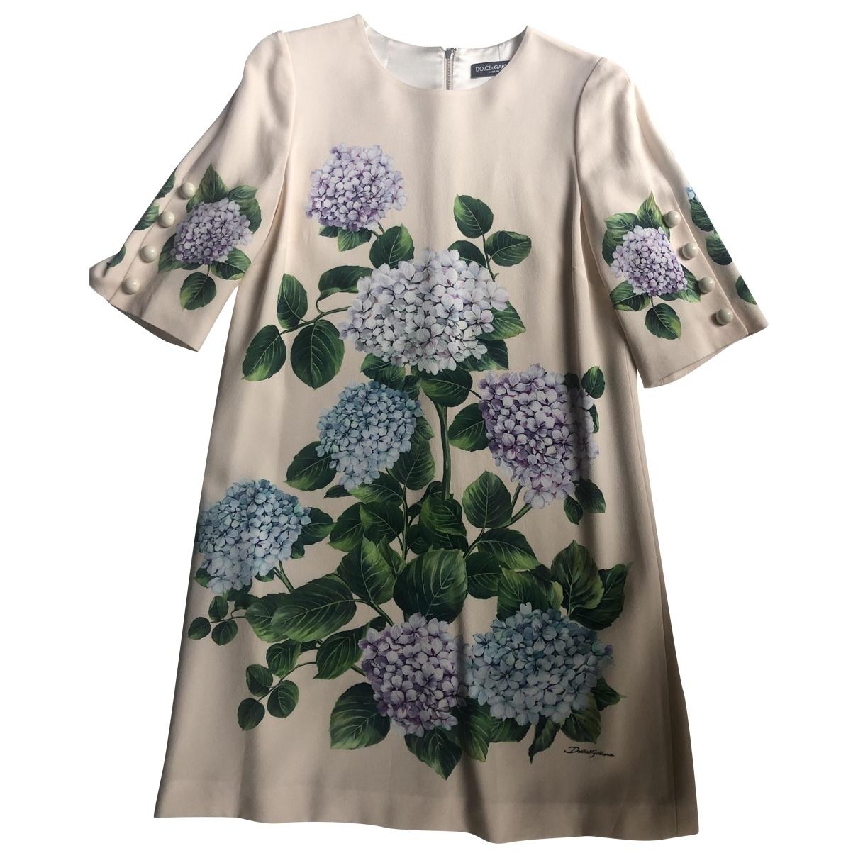 Dolce & Gabbana \N Pink Silk dress for Women 44 FR