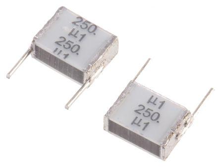 EPCOS 100nF Polyester Capacitor PET 160 V ac, 250 V dc ±10%, Through Hole (5)