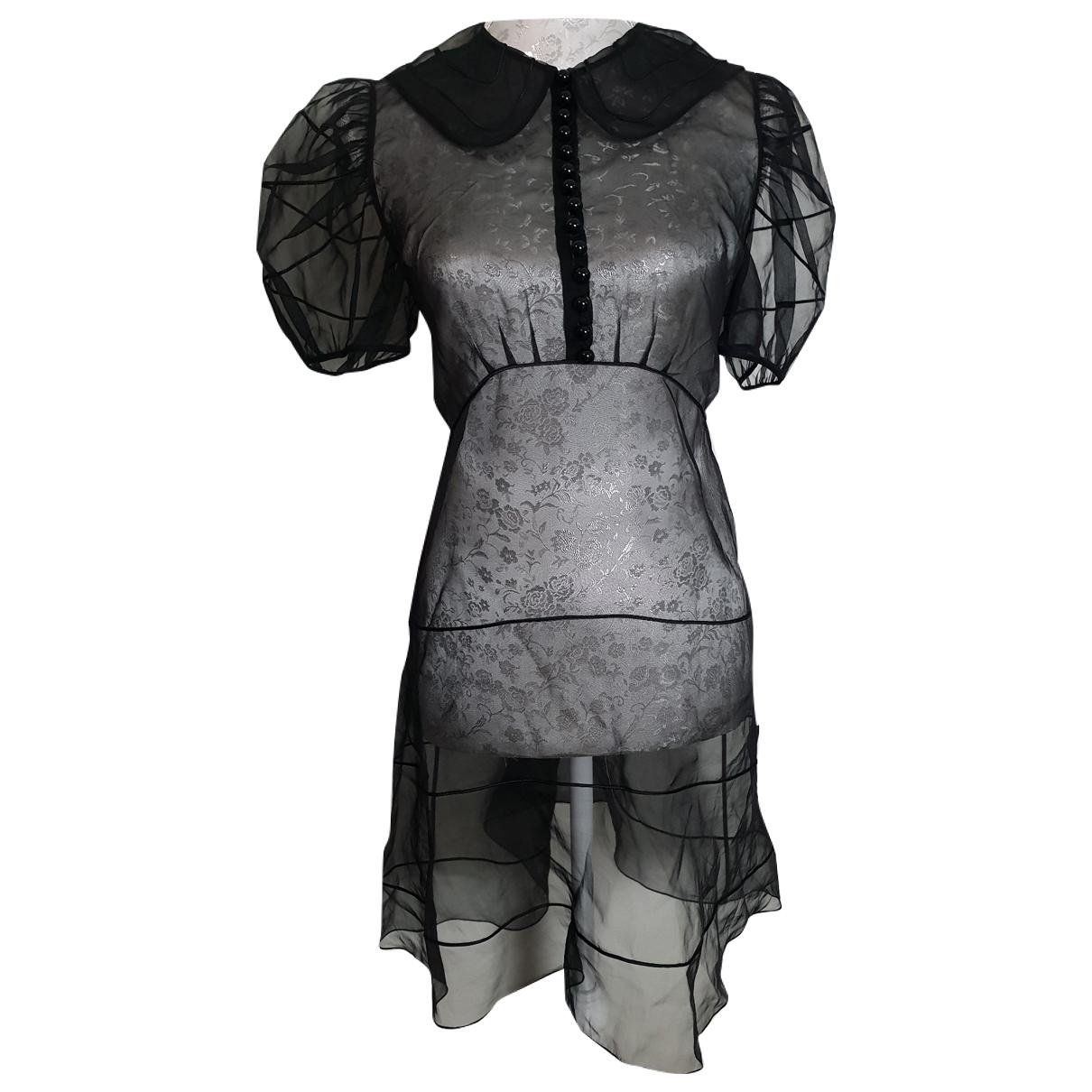 Chloe - Robe   pour femme en soie - noir