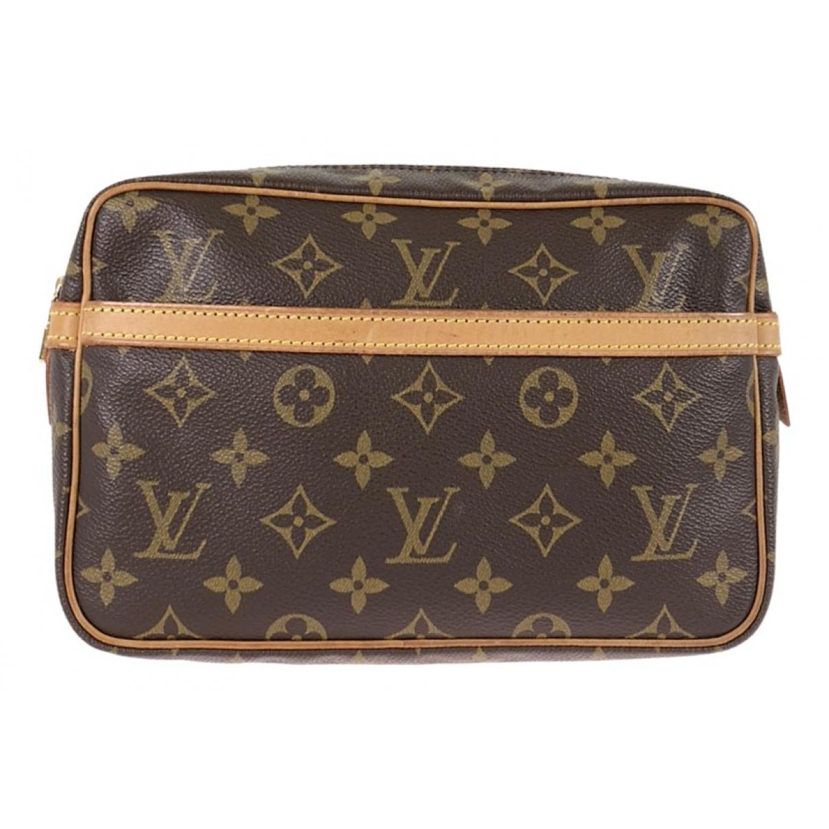 Louis Vuitton - Sac de voyage Compiegne 23 pour femme en toile - marron