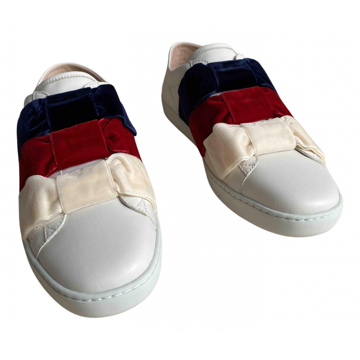 Gucci N White Leather Trainers for Women 36 EU