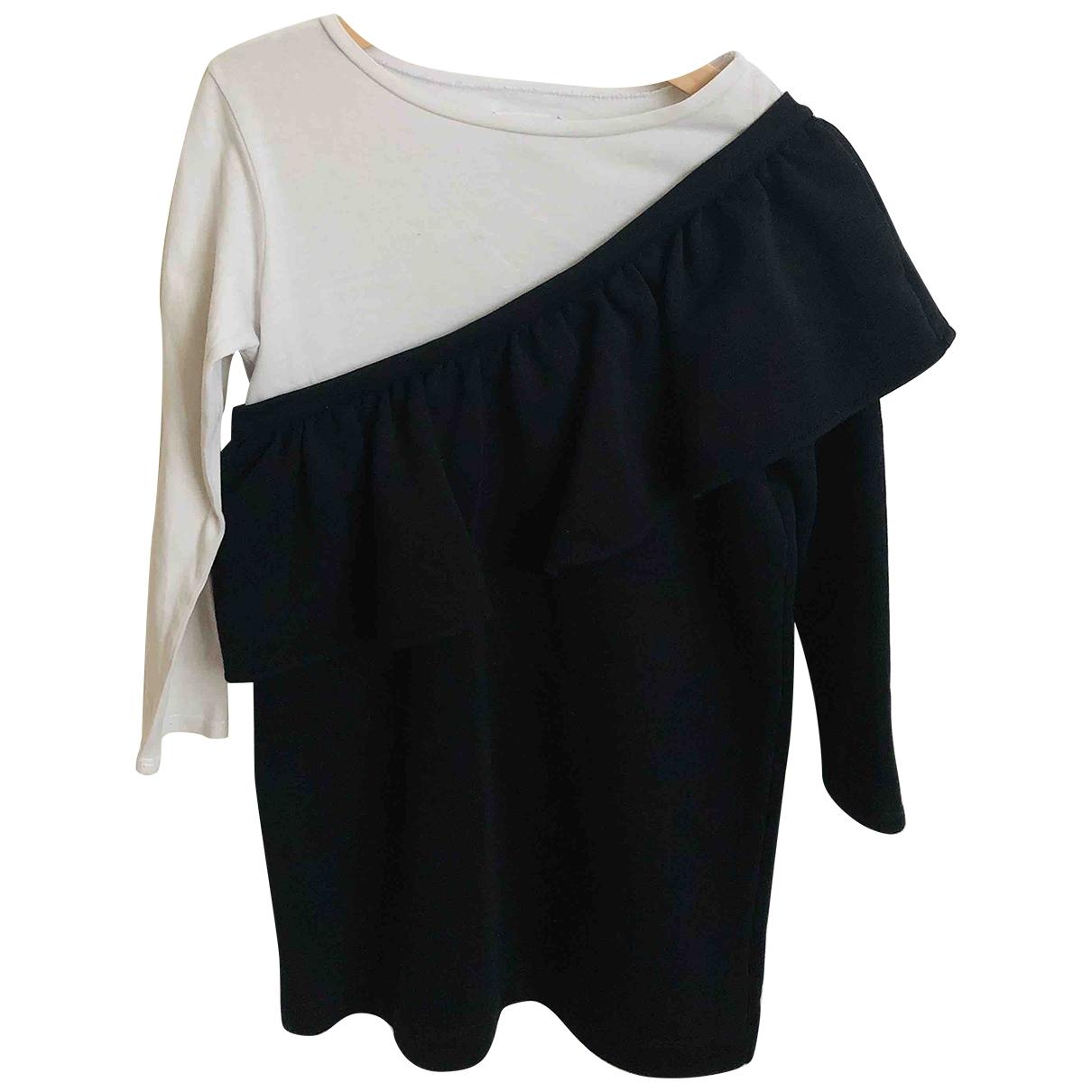 Douuod \N Kleid in  Schwarz Baumwolle