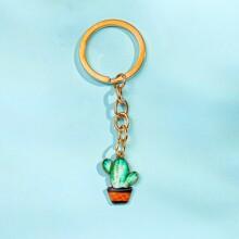 Cactus Charm Keychain