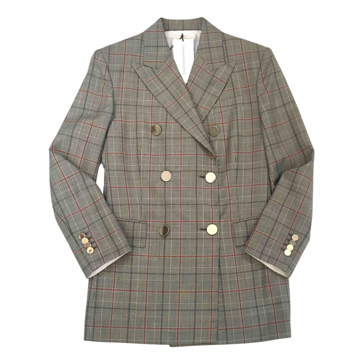 Calvin Klein 205w39nyc N Grey Wool jacket for Women 8 UK