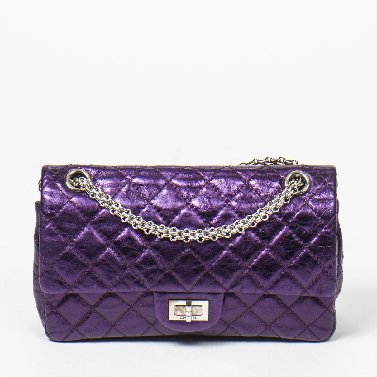 Chanel 2.55 Handtasche in  Lila Leder