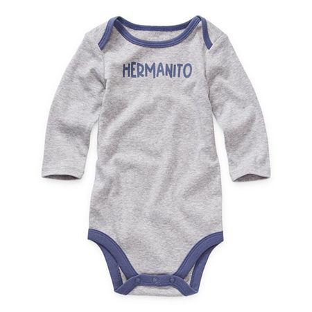Okie Dokie Baby Boys Bodysuit, 6 Months , Gray