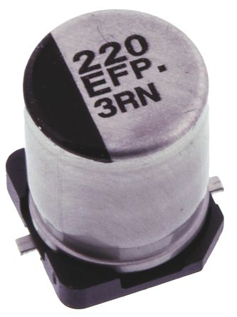 Panasonic 220μF Electrolytic Capacitor 25V dc, Surface Mount - EEEFP1E221AP (5)