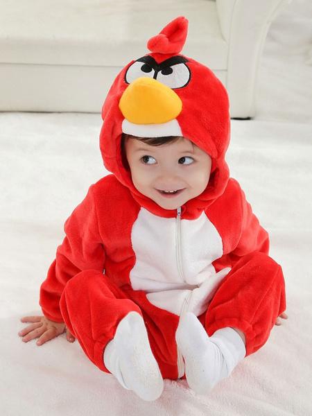 Milanoo Kigurumi Pajamas Onesie Angry Birds Red Toddler Cartoon Jumpsuit