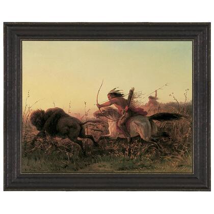 DA3332 29.5X24.5 Indian Buffalo Hunt