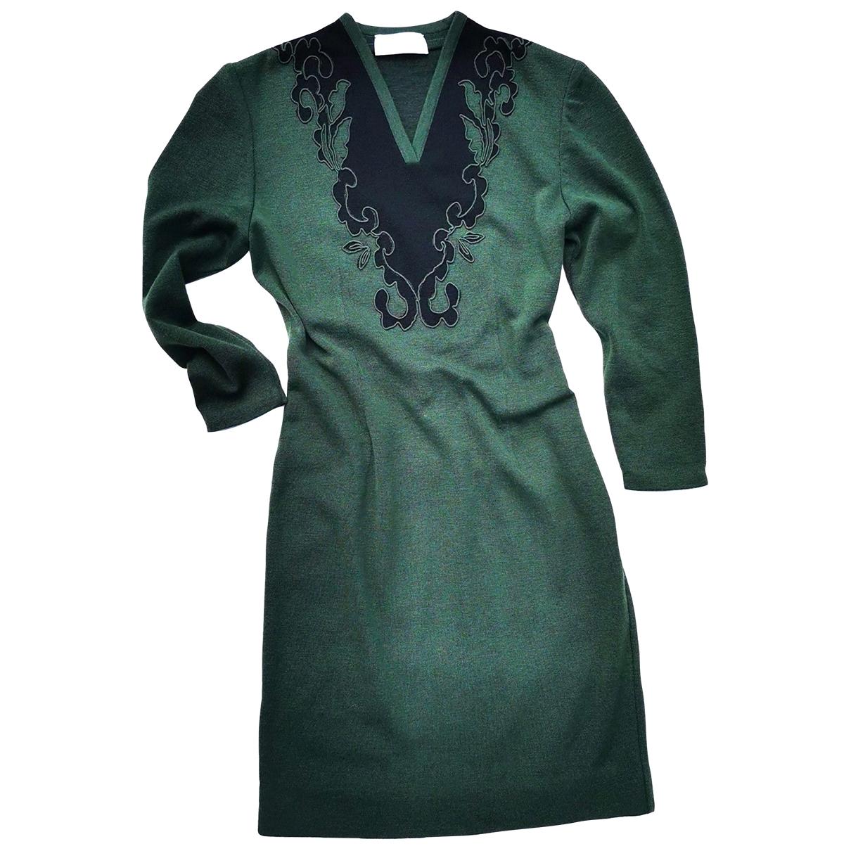 Nina Ricci \N Kleid in  Gruen Wolle