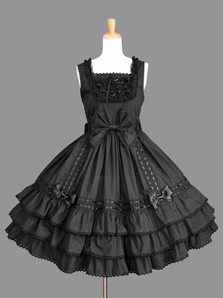 Milanoo Classic Lolita JSK Dress Ruffles Pink Lolita Jumper Skirts