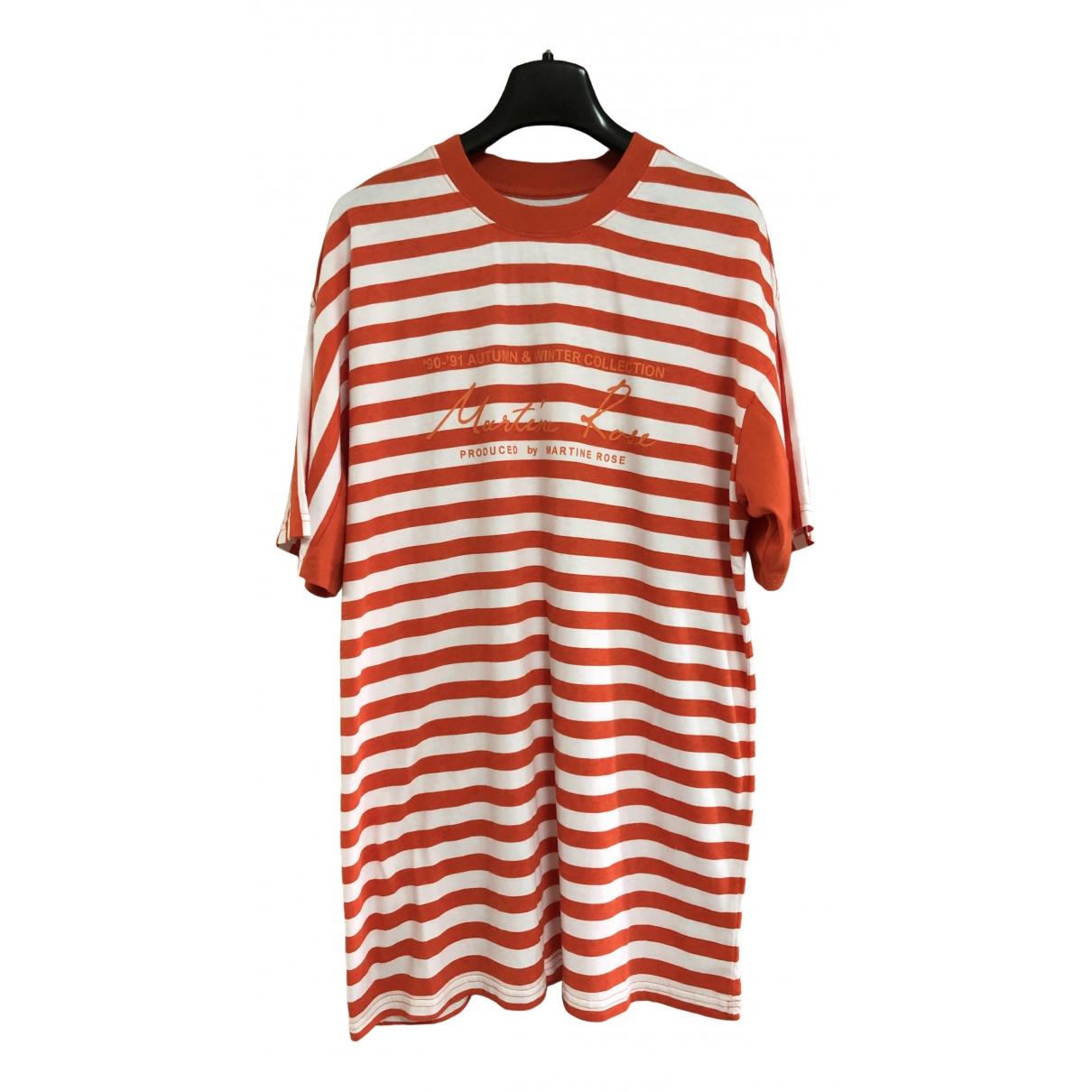 Martine Rose \N Orange Cotton T-shirts for Men S International