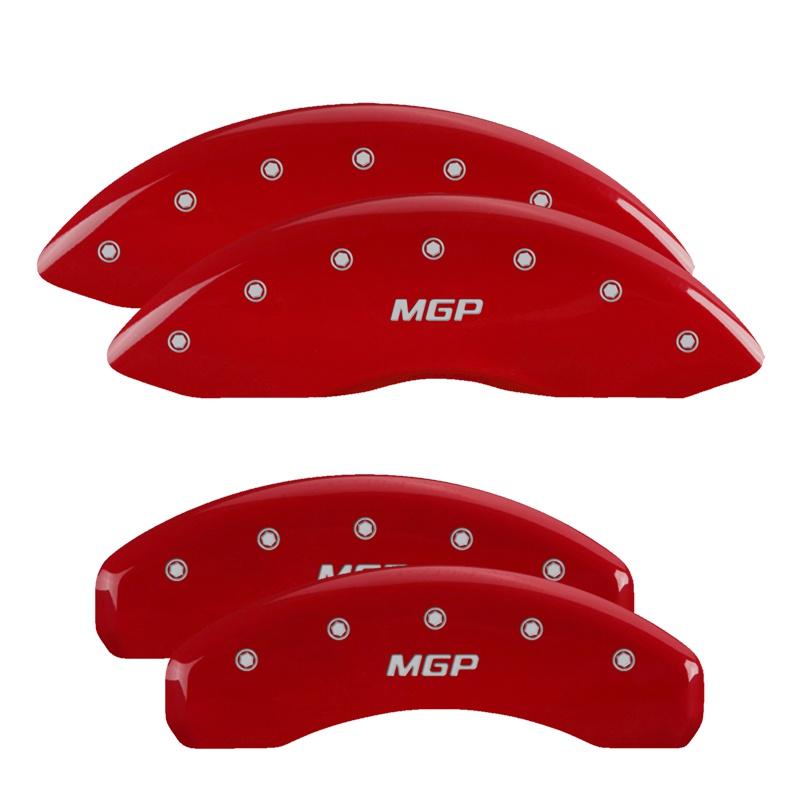 MGP Caliper Covers 46001SMGPRD Set of 4: Red finish, Silver MGP / MGP Dodge Dakota 1997