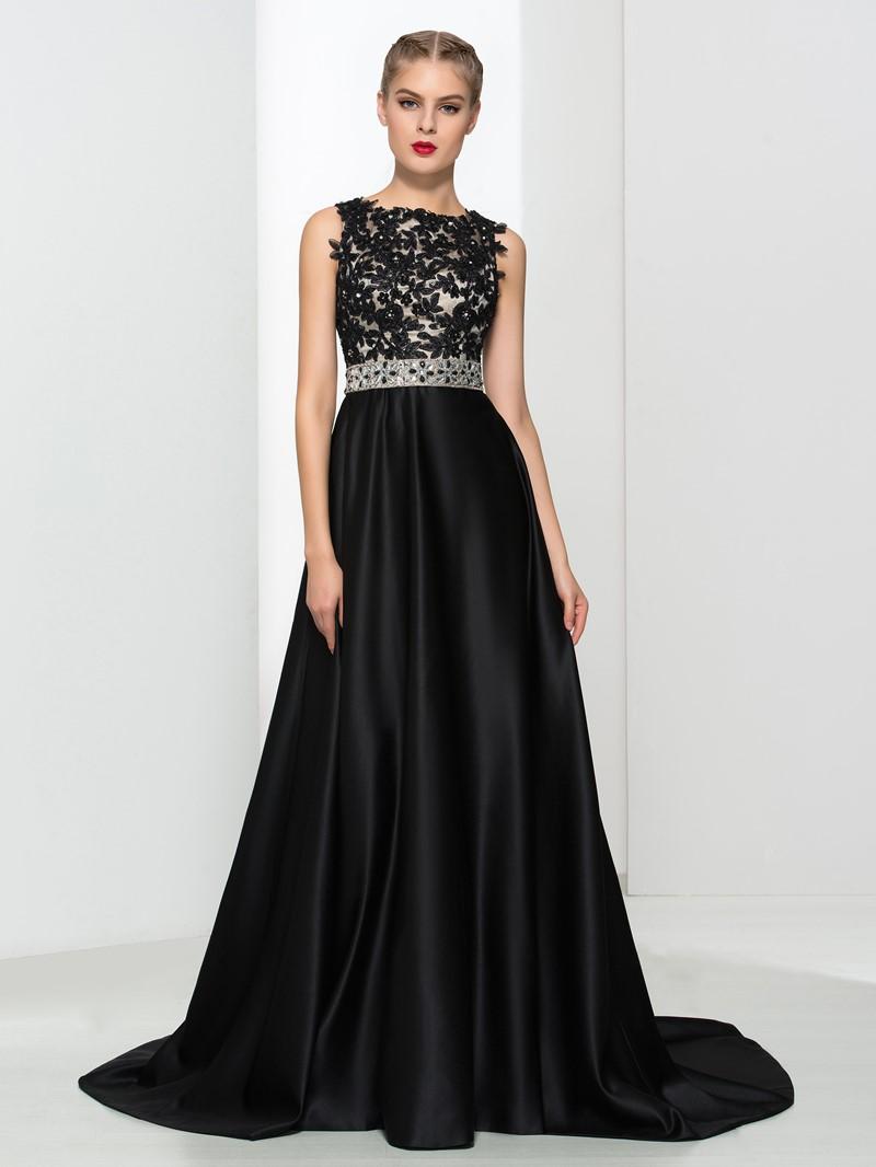 Ericdress A-Line Appliques Beading Backless Evening Dress