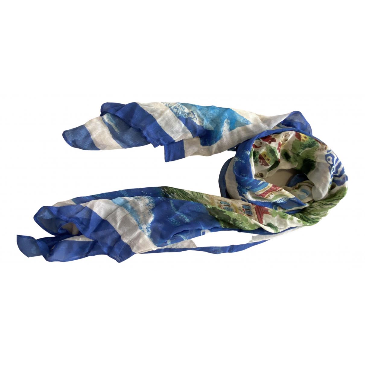 Ralph Lauren \N Schal in  Blau Seide