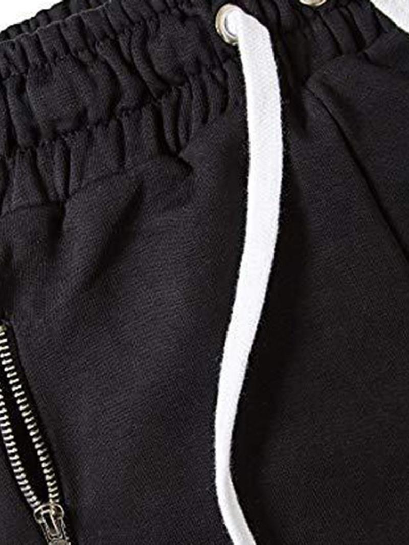 Ericdress Pocket Color Block Lace-Up Mens Casual Pants