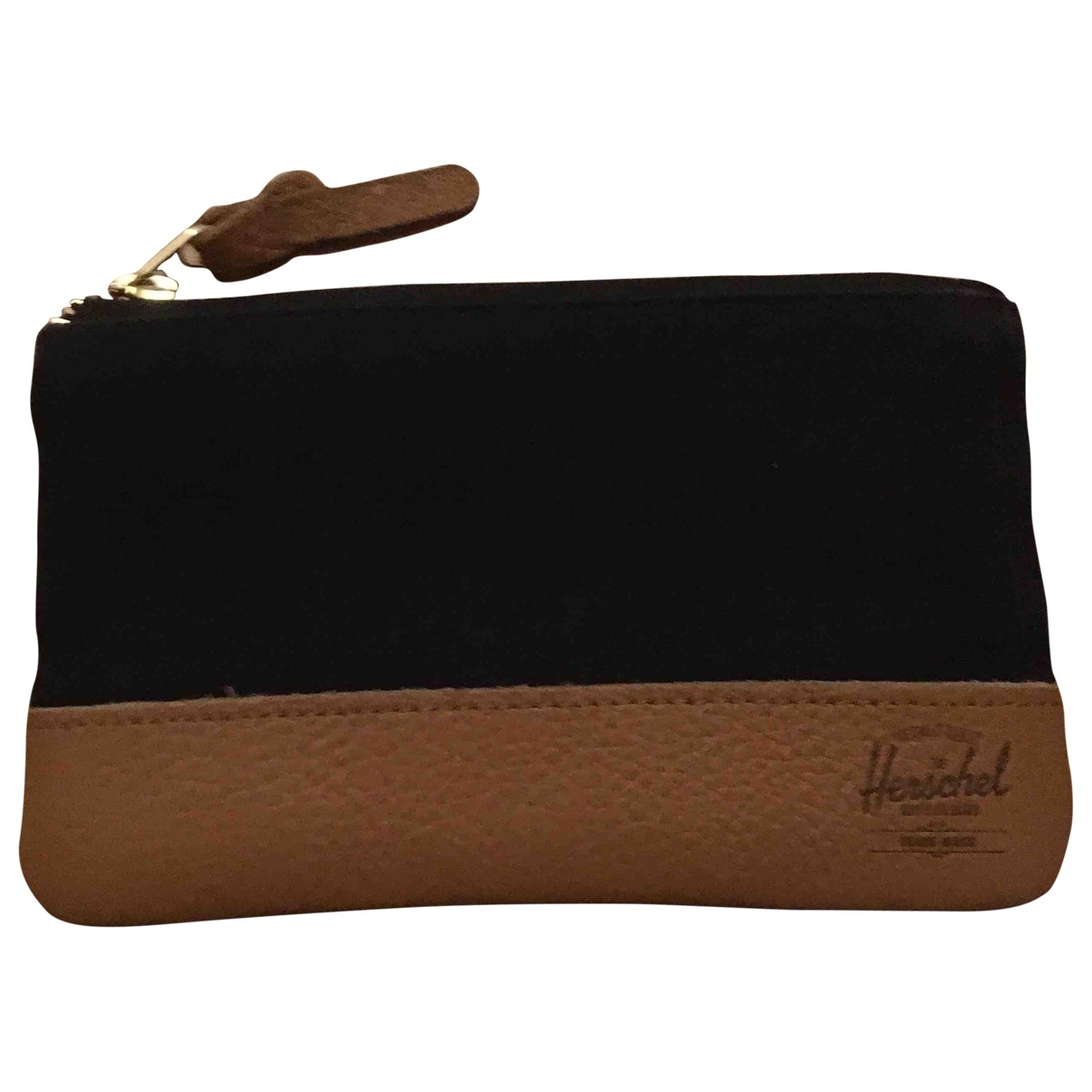 Herschel \N Black Cotton Small bag, wallet & cases for Men \N