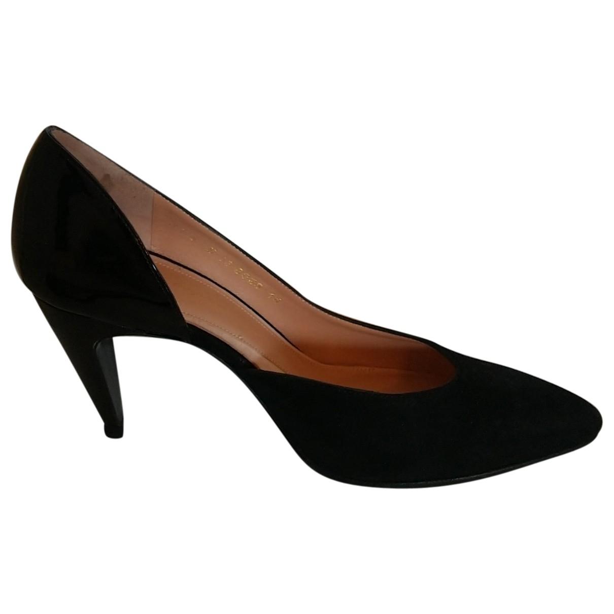 Robert Clergerie \N Black Suede Heels for Women 37.5 EU
