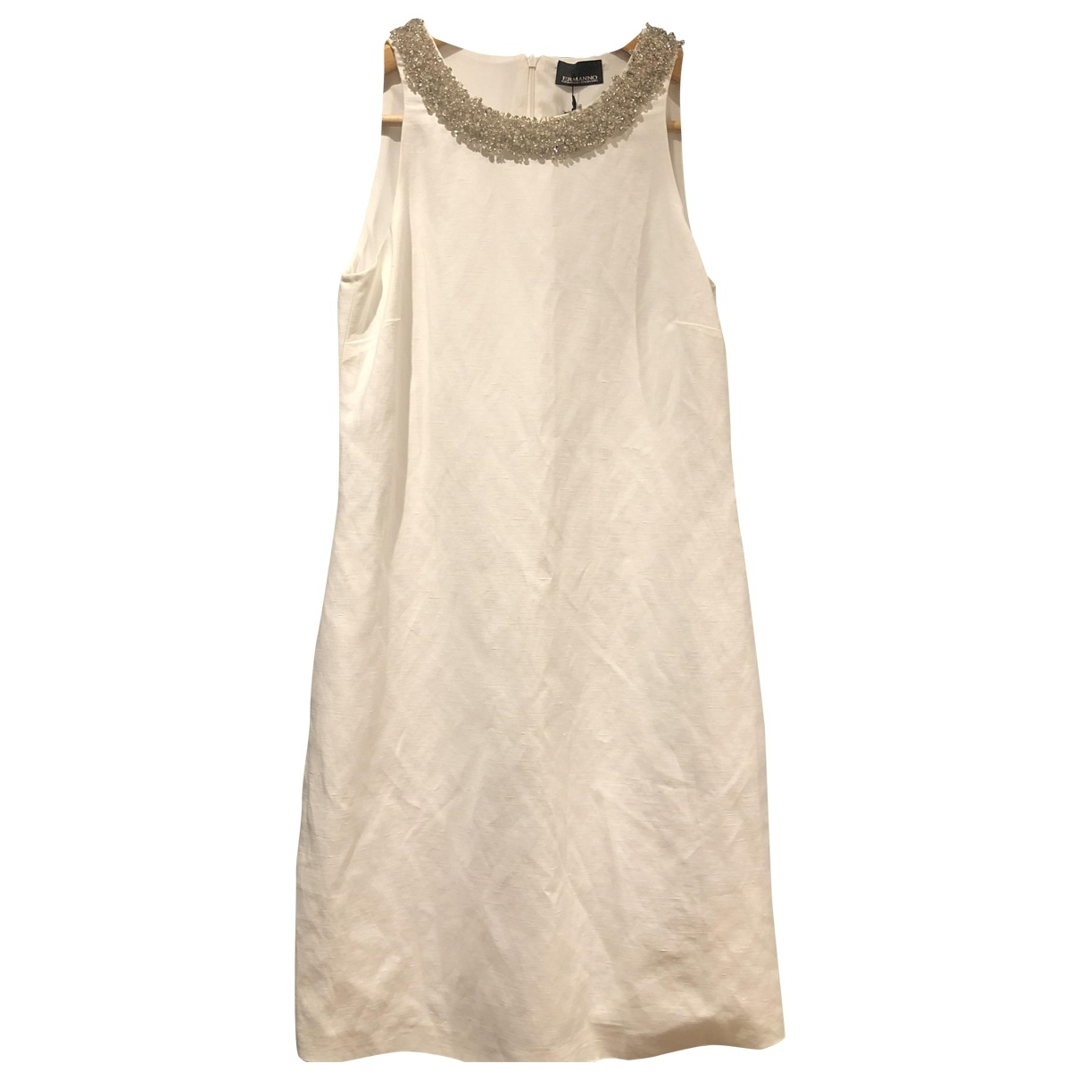 Ermanno Scervino \N White Linen dress for Women 40 IT