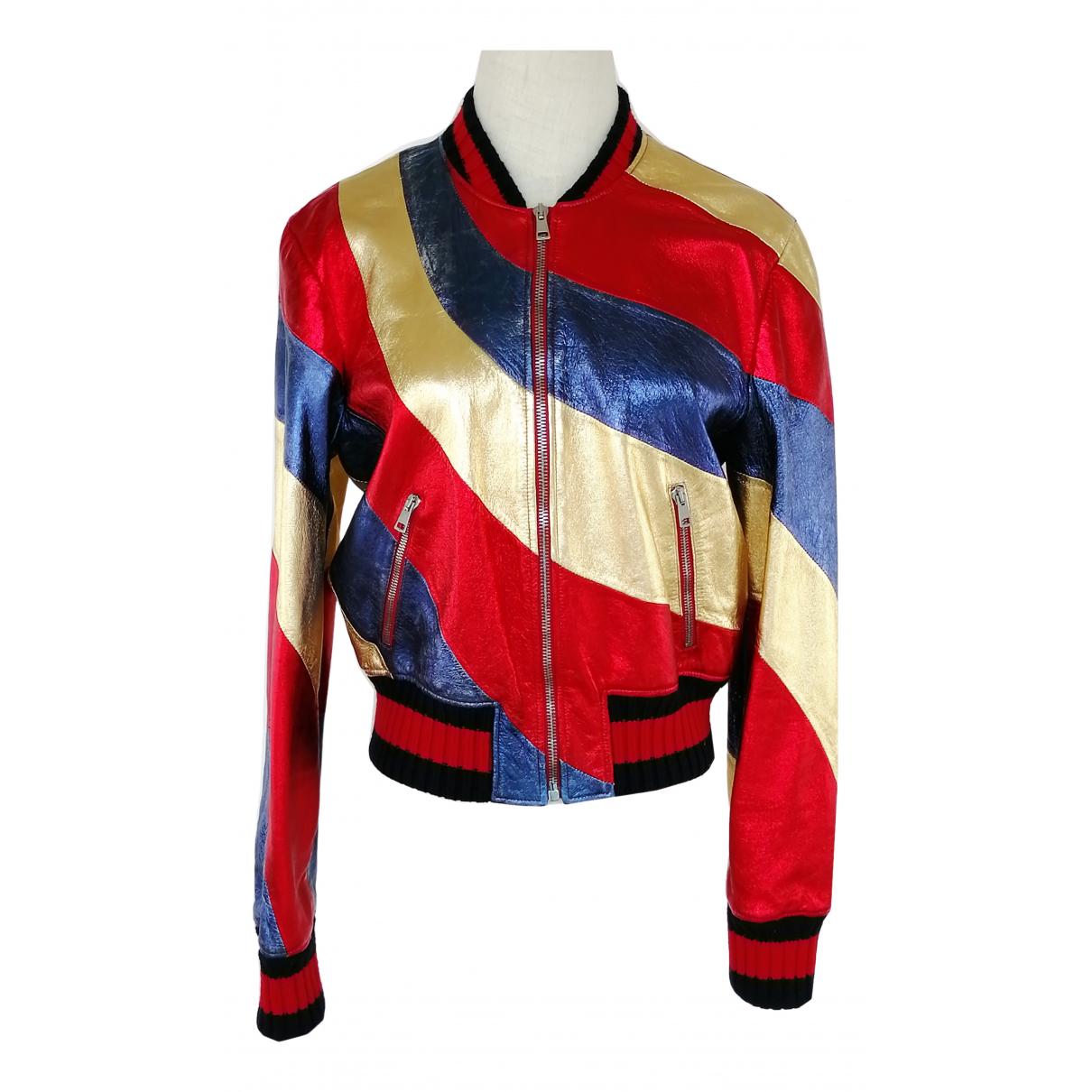 Gucci - Veste   pour femme en cuir - multicolore