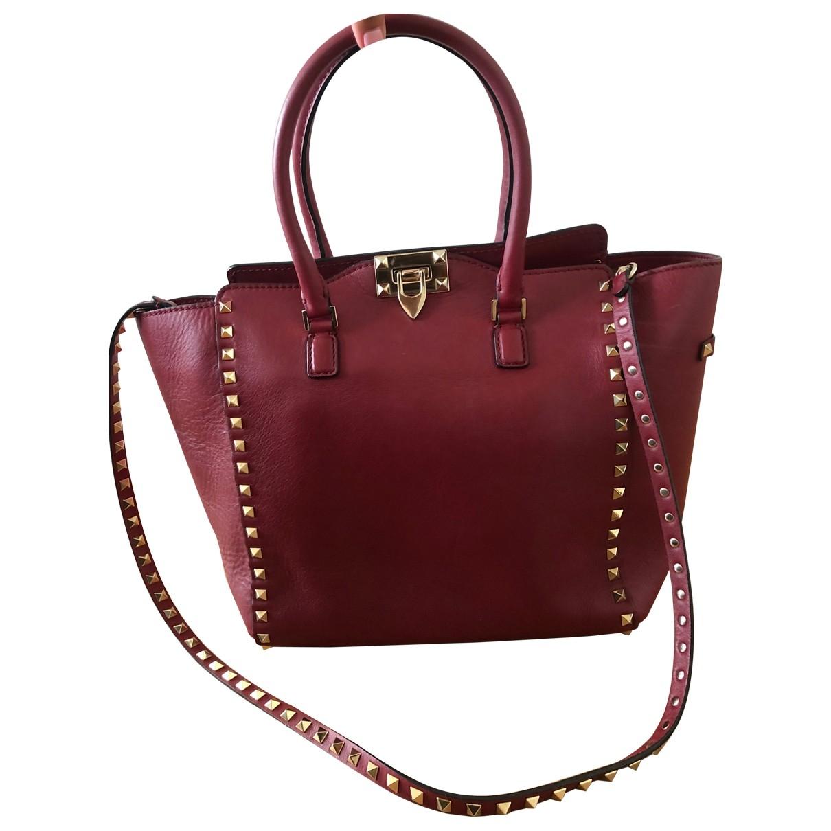 Valentino Garavani Rockstud Red Leather handbag for Women \N