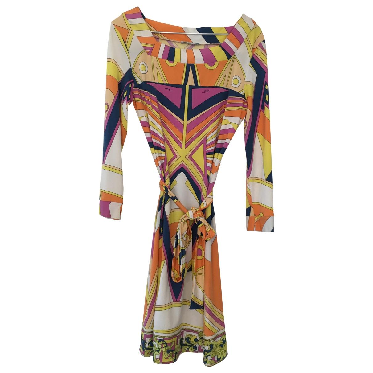 Emilio Pucci \N Multicolour Silk dress for Women 42 IT