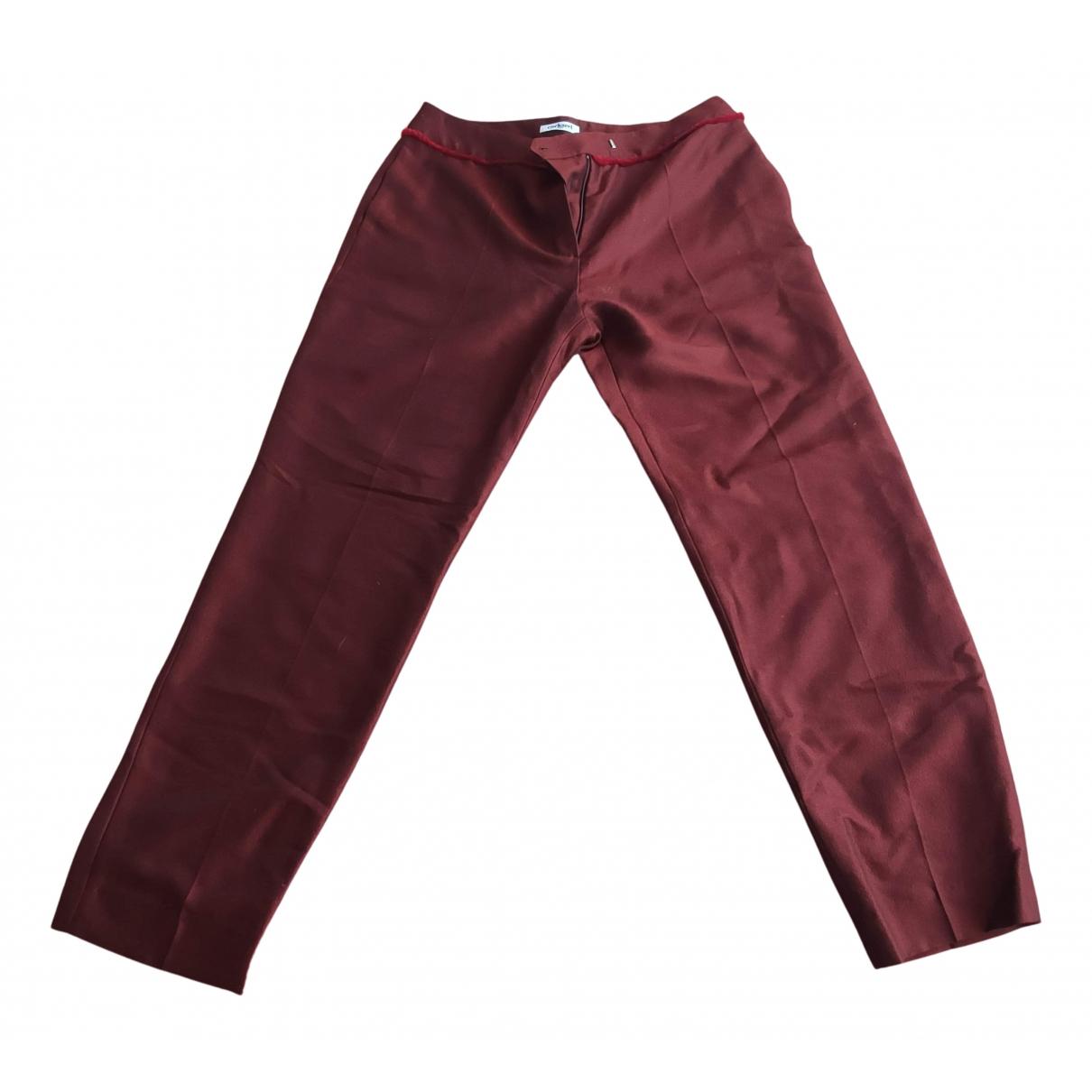 Cacharel N Burgundy Wool Trousers for Women M International