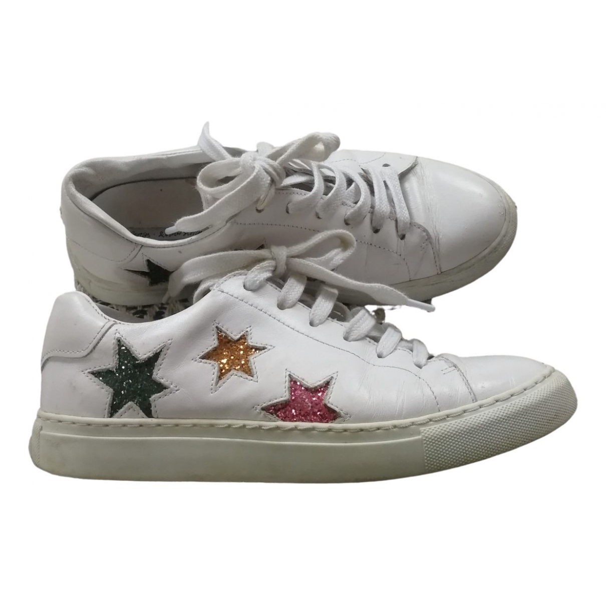 & Stories \N White Leather Trainers for Women 37 EU