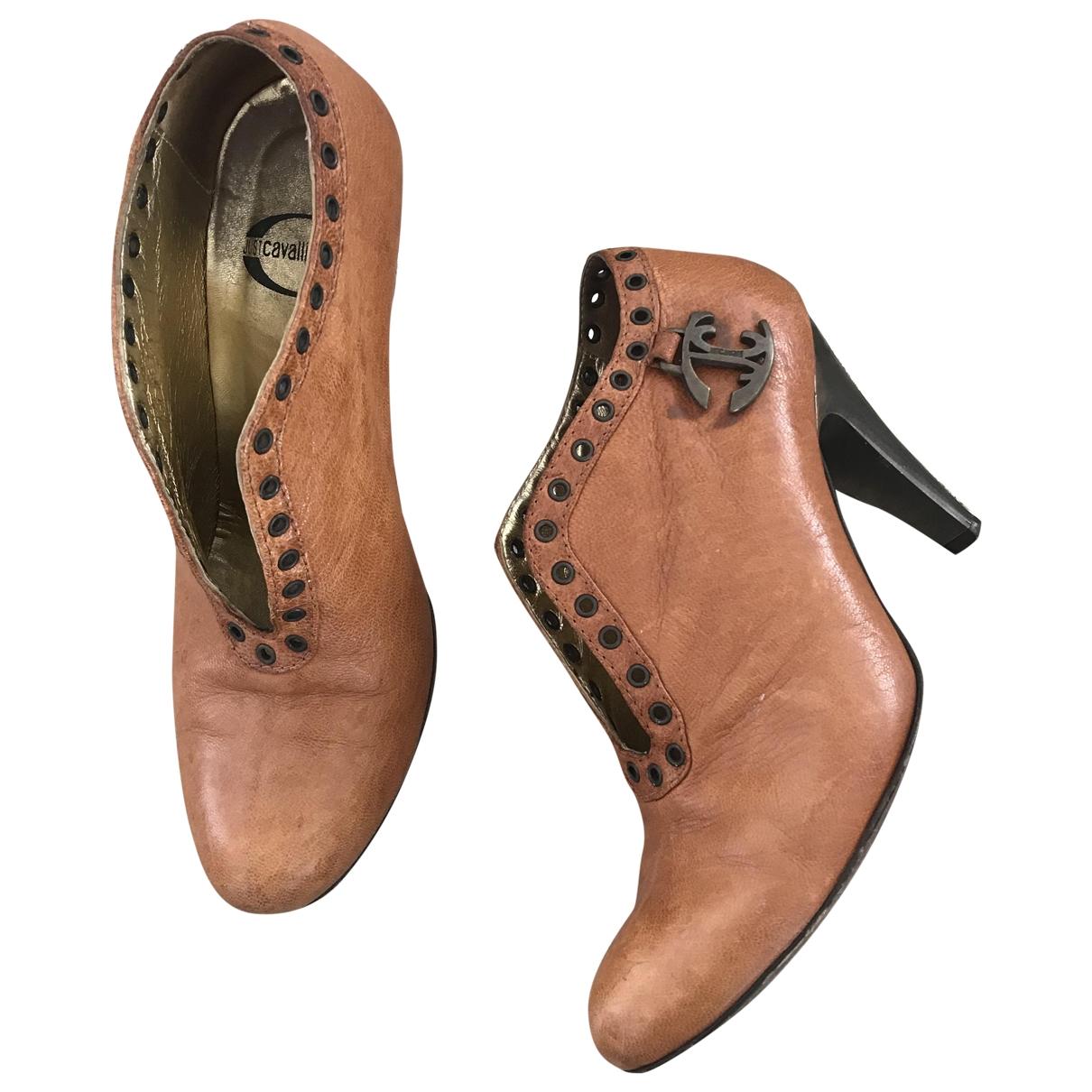 Just Cavalli - Boots   pour femme en cuir - camel