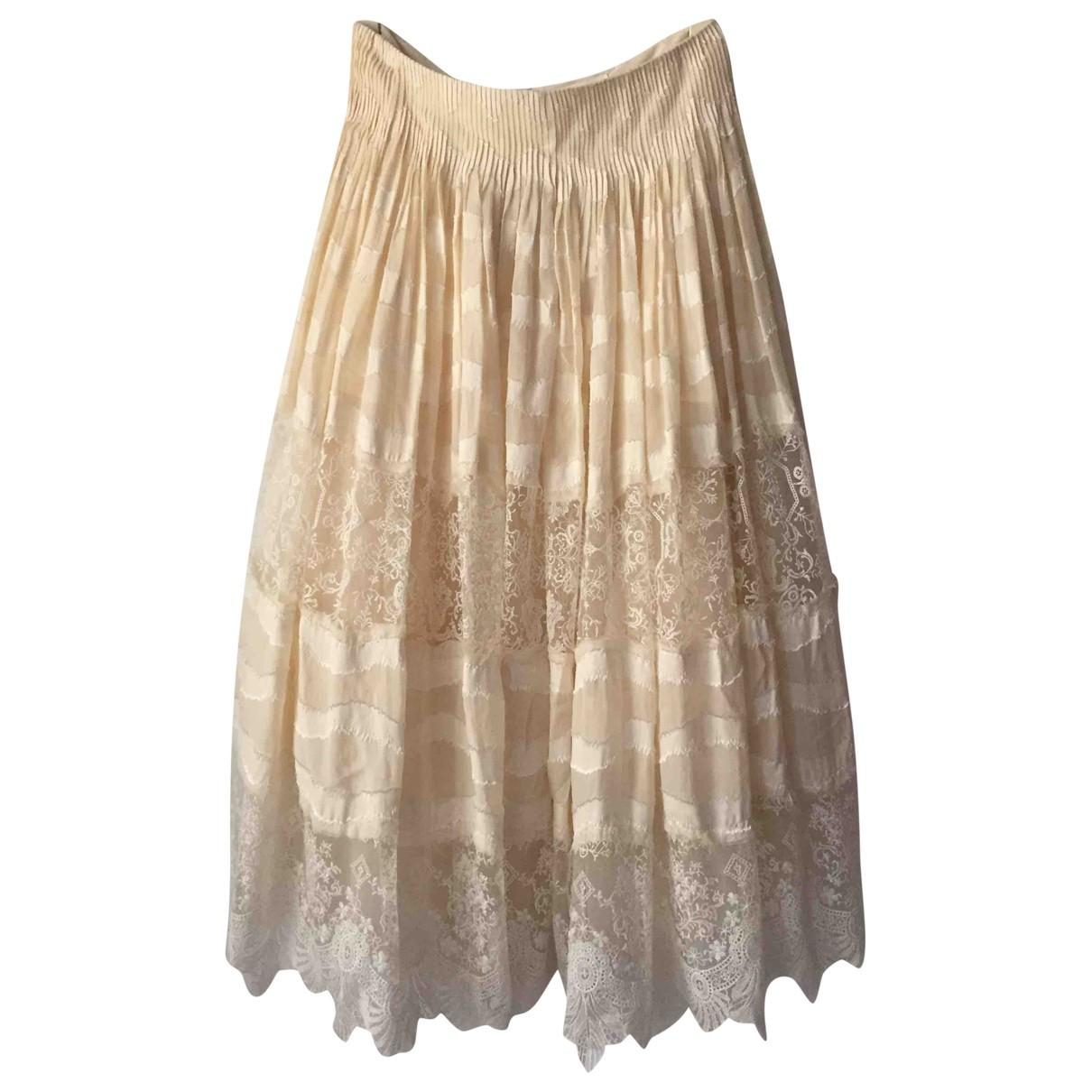 H&m Conscious Exclusive - Jupe   pour femme en soie - beige