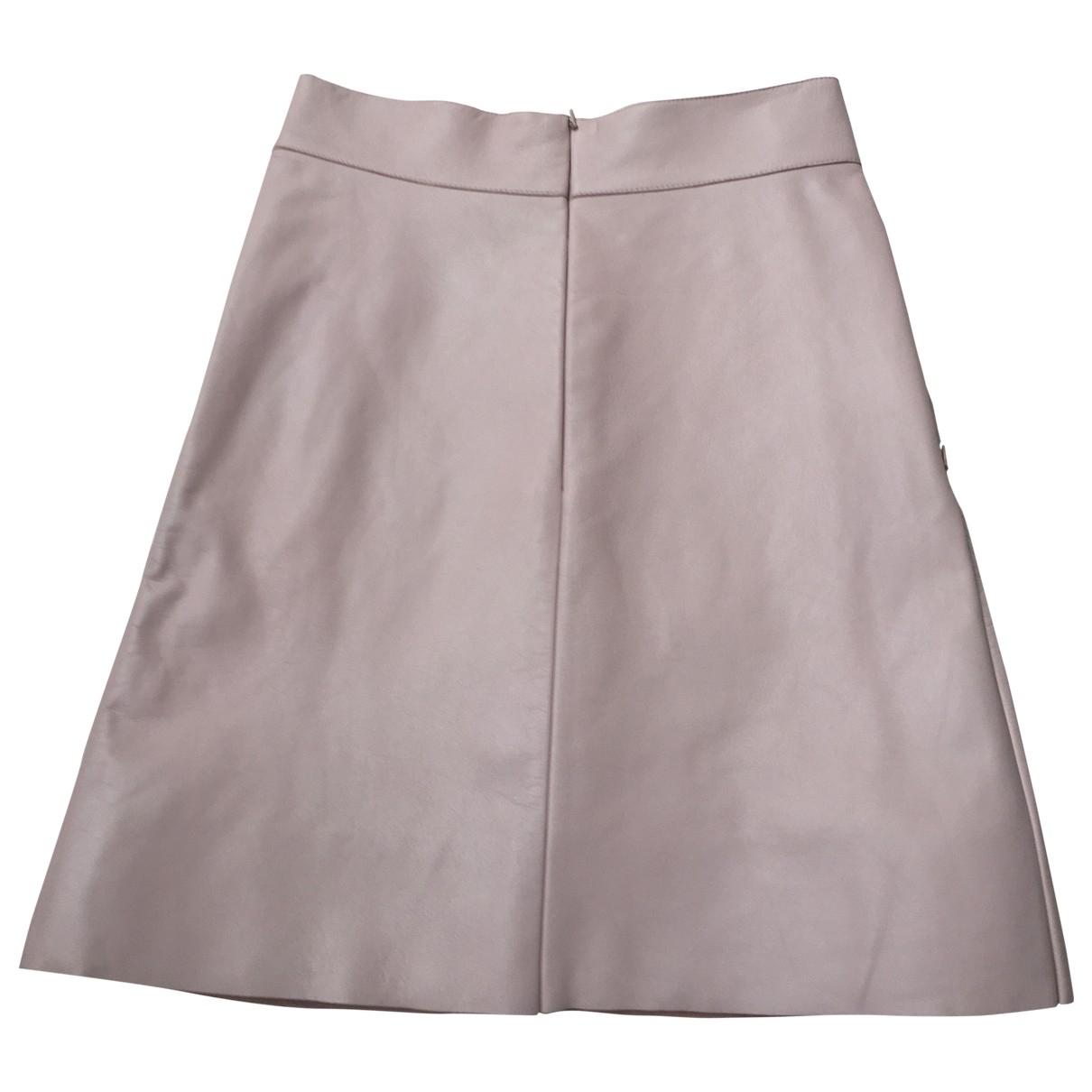 Akris - Jupe   pour femme en cuir - rose