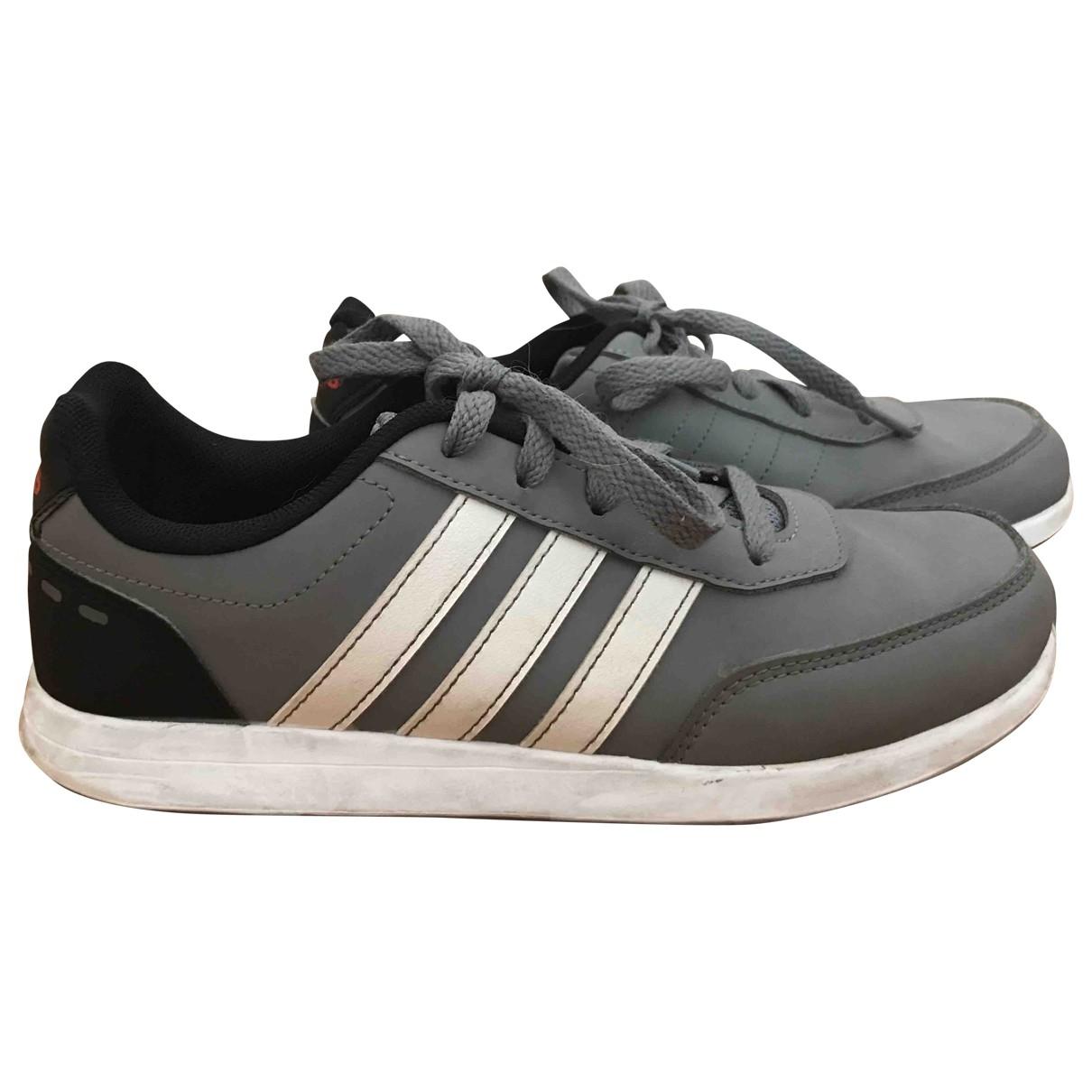 Adidas - Baskets   pour enfant en cuir - gris