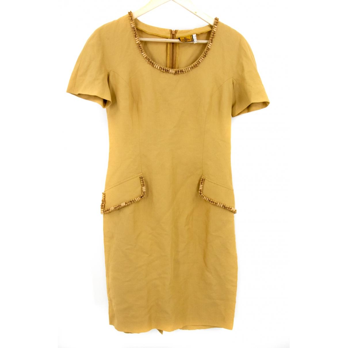 Fendi \N Yellow dress for Women 12 UK