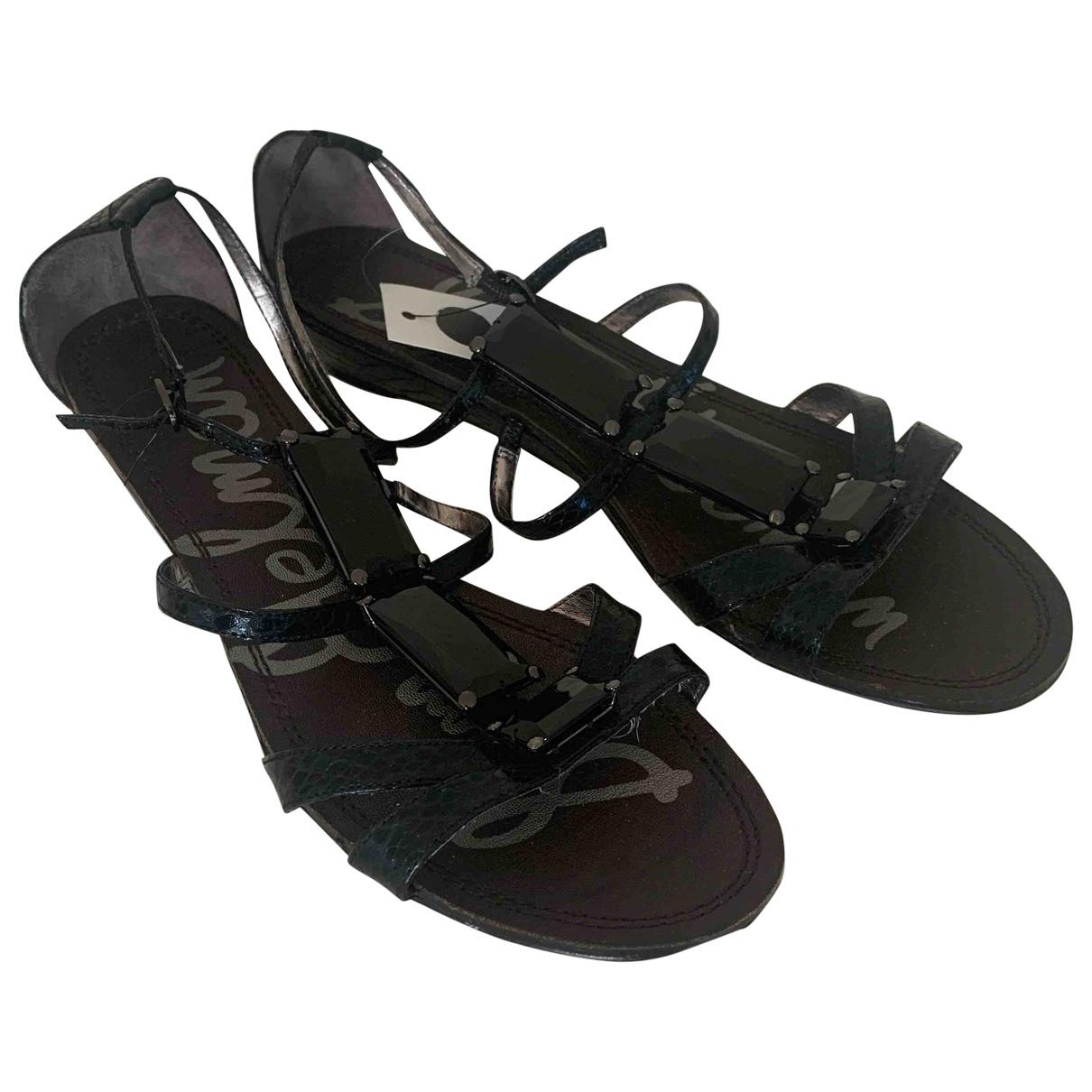 Sam Edelman \N Black Leather Sandals for Women 40 IT