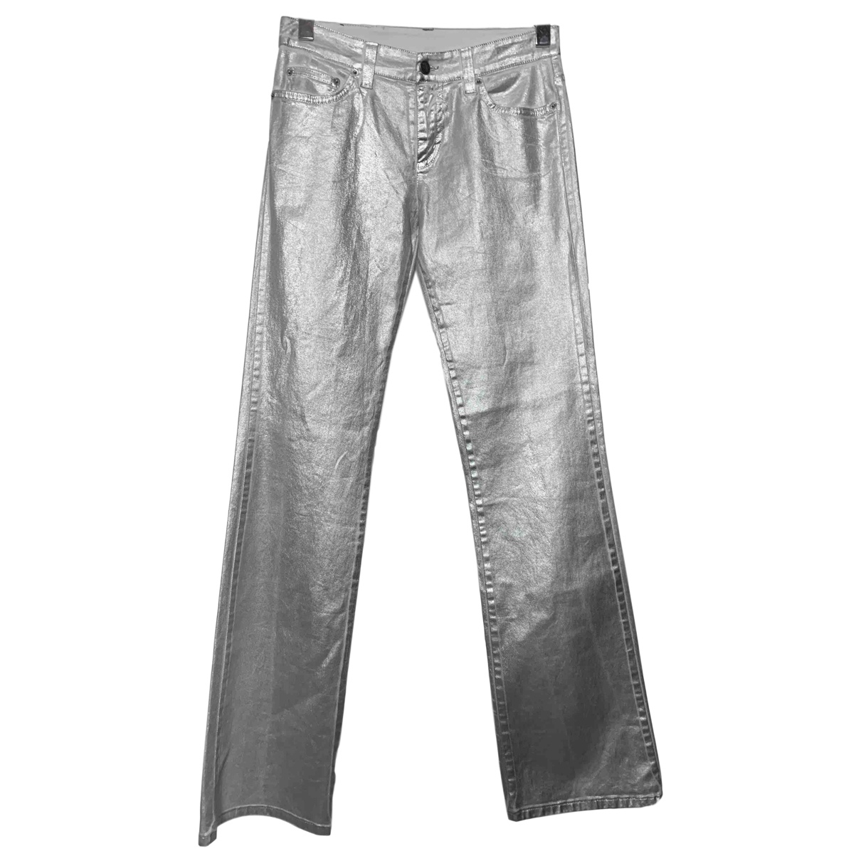 Iceberg N Silver Cotton Trousers for Men 28 UK - US