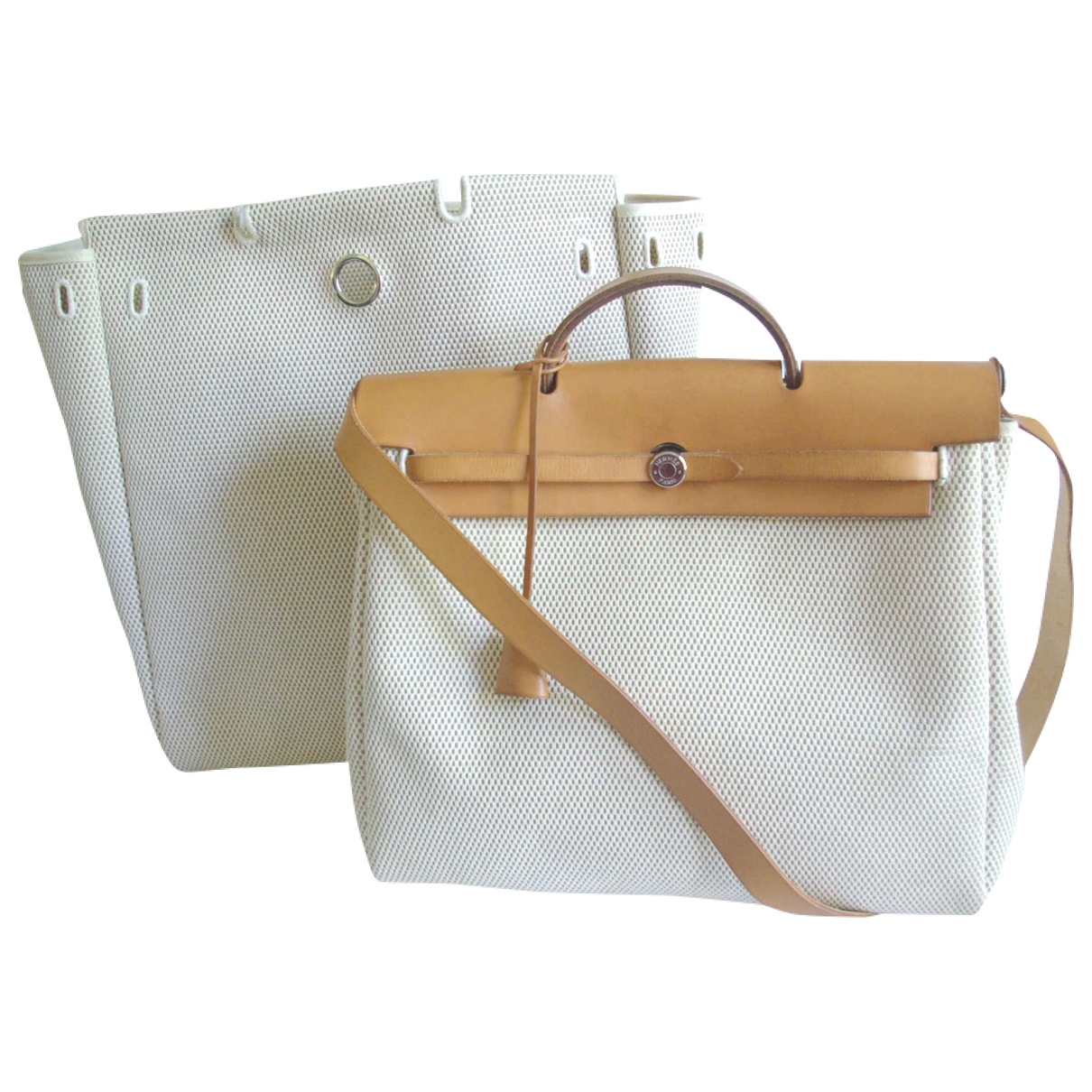 Hermès Herbag Beige Cloth handbag for Women \N