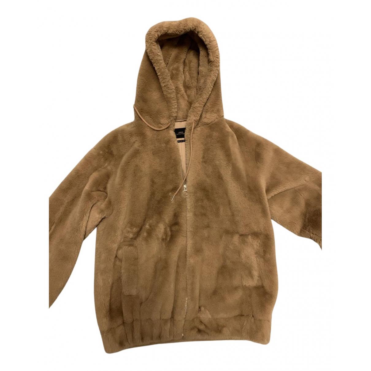 Urban Outfitters - Manteau   pour femme en fourrure synthetique - marron