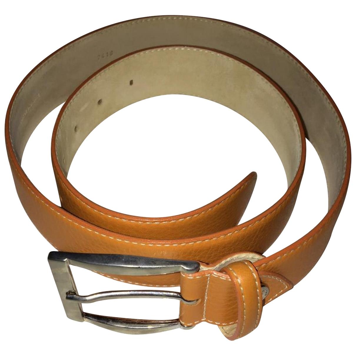 Longchamp \N Orange Leather belt for Women 85 cm