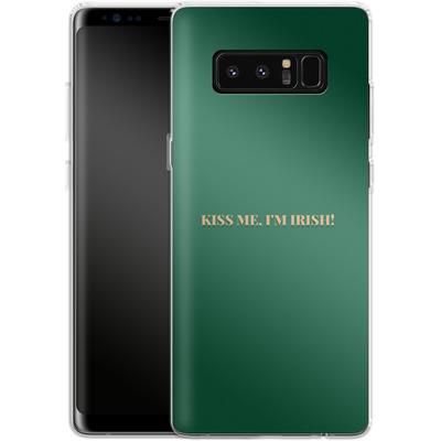 Samsung Galaxy Note 8 Silikon Handyhuelle - Kiss Me Im Irish von caseable Designs