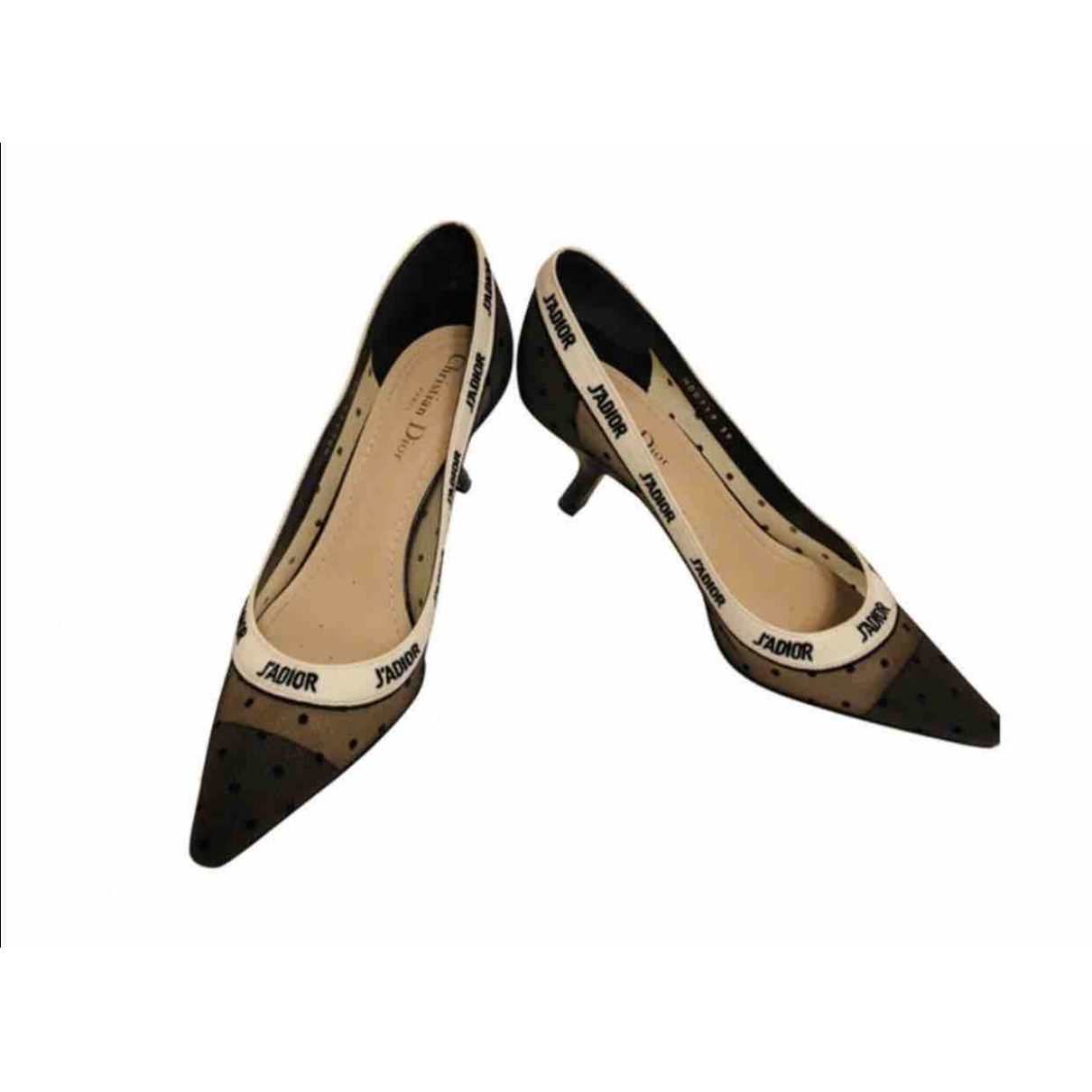 Dior J'adior Black Cloth Heels for Women 39 EU